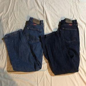 Men's 29 x 30 regular fit wrangler blue jeans